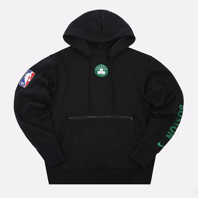 мужскую черную  толстовка nike nba boston celtics courtside hoodie CN1806-010 - цена, описание, фото 1