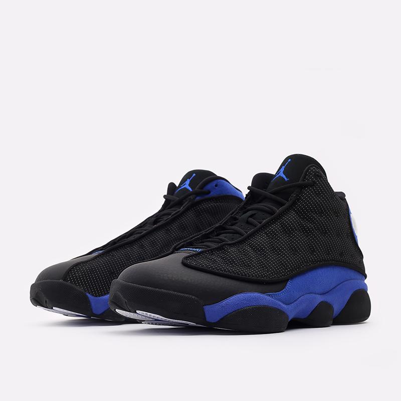 мужские чёрные, синие  кроссовки jordan 13 retro 414571-040 - цена, описание, фото 2