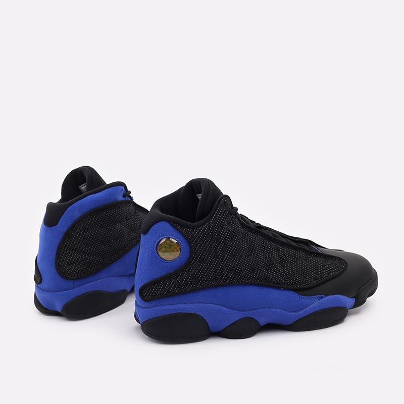 мужские чёрные, синие  кроссовки jordan 13 retro 414571-040 - цена, описание, фото 3