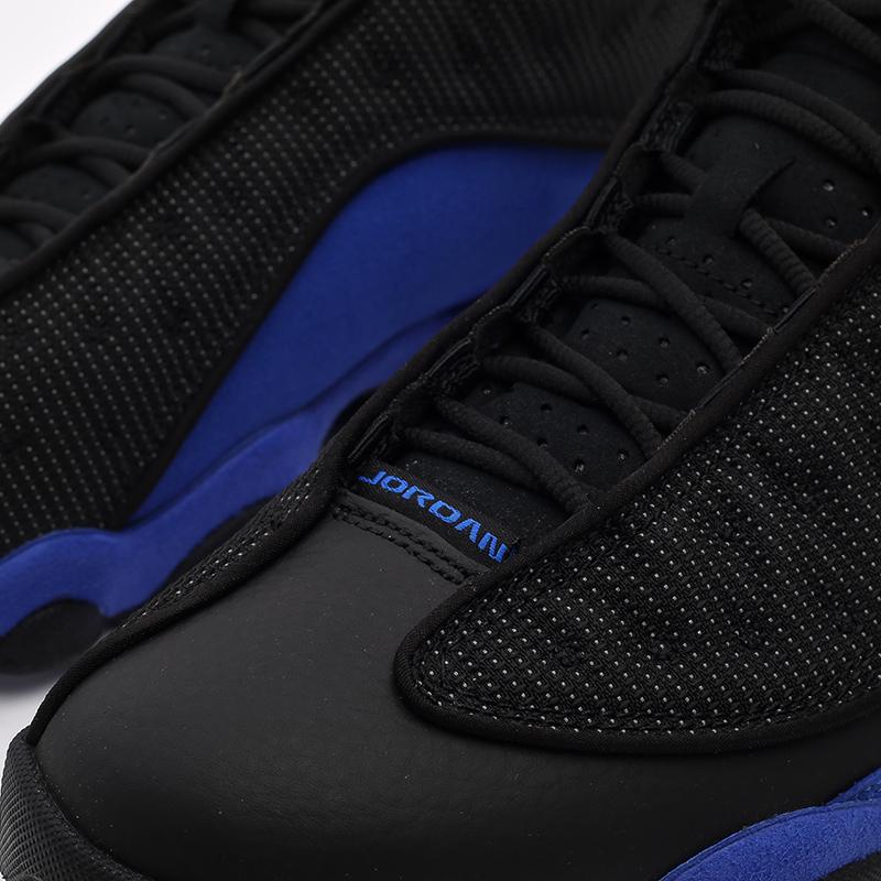 мужские чёрные, синие  кроссовки jordan 13 retro 414571-040 - цена, описание, фото 7