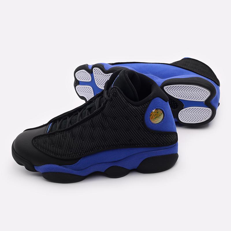 мужские чёрные, синие  кроссовки jordan 13 retro 414571-040 - цена, описание, фото 4