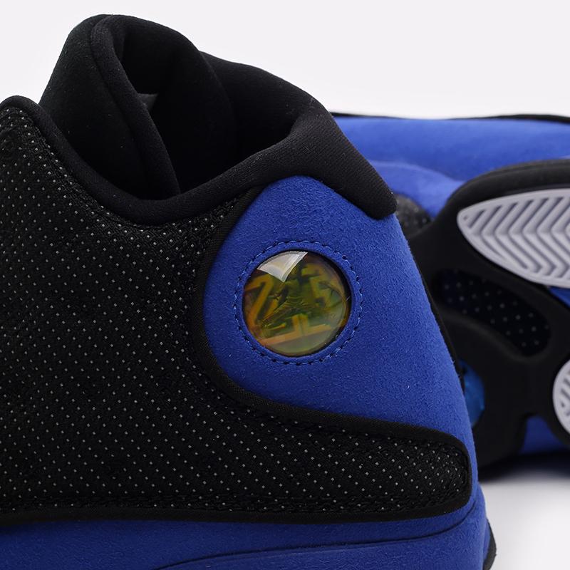 мужские чёрные, синие  кроссовки jordan 13 retro 414571-040 - цена, описание, фото 8