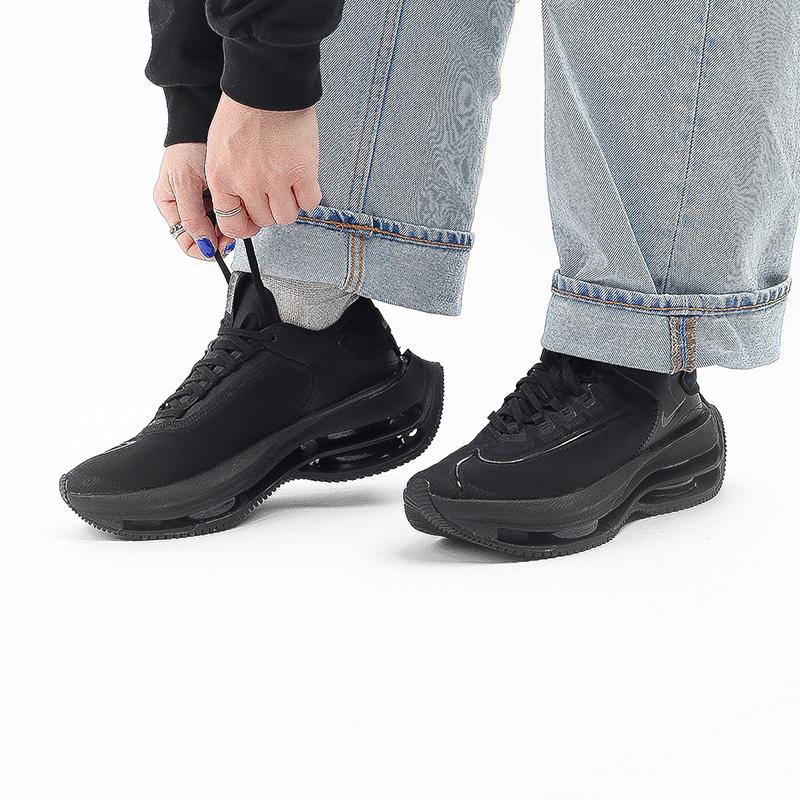 женские чёрные  кроссовки nike wmns zoom double stacked CV8474-002 - цена, описание, фото 7