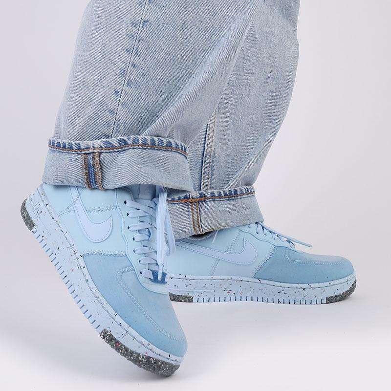 женские голубые  кроссовки nike wmns air force 1 crater CT1986-400 - цена, описание, фото 10