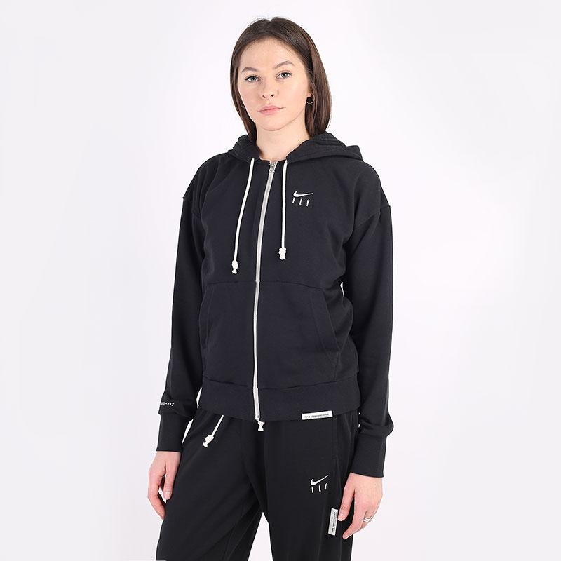 женскую черную  толстовка nike standard issue fz hoodie CU3793-010 - цена, описание, фото 1