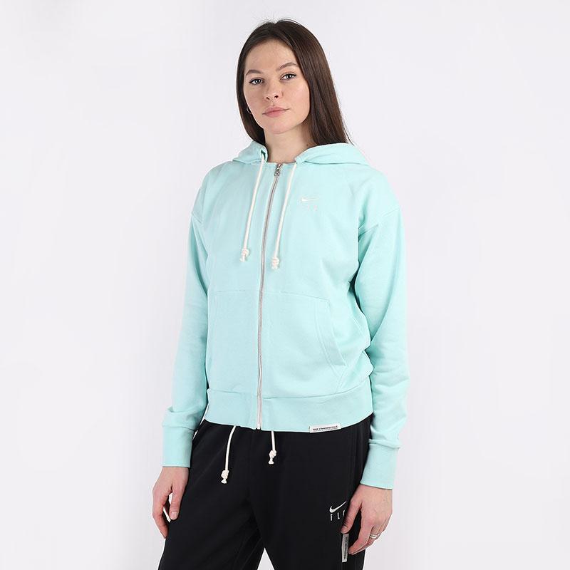 женскую голубую  толстовка nike standard issue fz hoodie CU3793-382 - цена, описание, фото 1