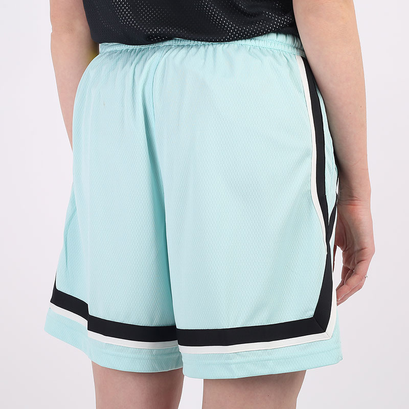 женские голубые  шорты  nike dri-fit swoosh fly women's basketball shorts CK6599-382 - цена, описание, фото 4