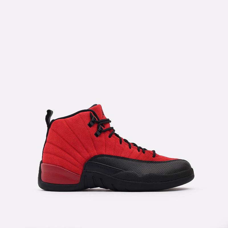 мужские красные, чёрные  кроссовки jordan 12 retro CT8013-602 - цена, описание, фото 1