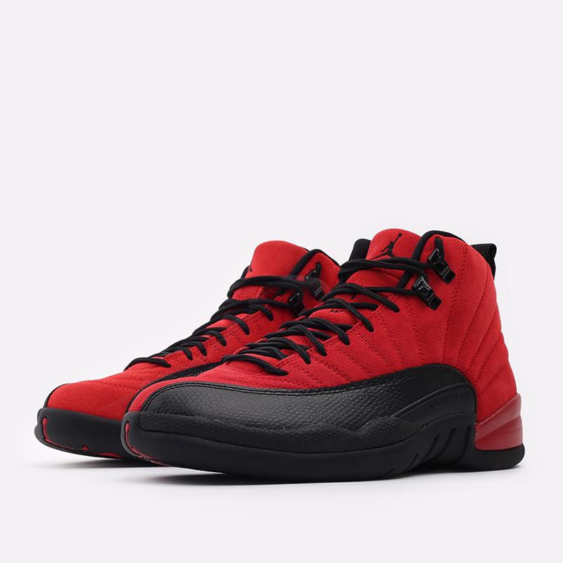 мужские красные, чёрные  кроссовки jordan 12 retro CT8013-602 - цена, описание, фото 2