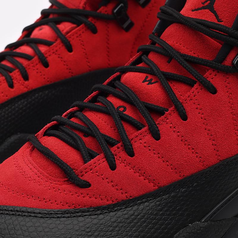мужские красные, чёрные  кроссовки jordan 12 retro CT8013-602 - цена, описание, фото 9