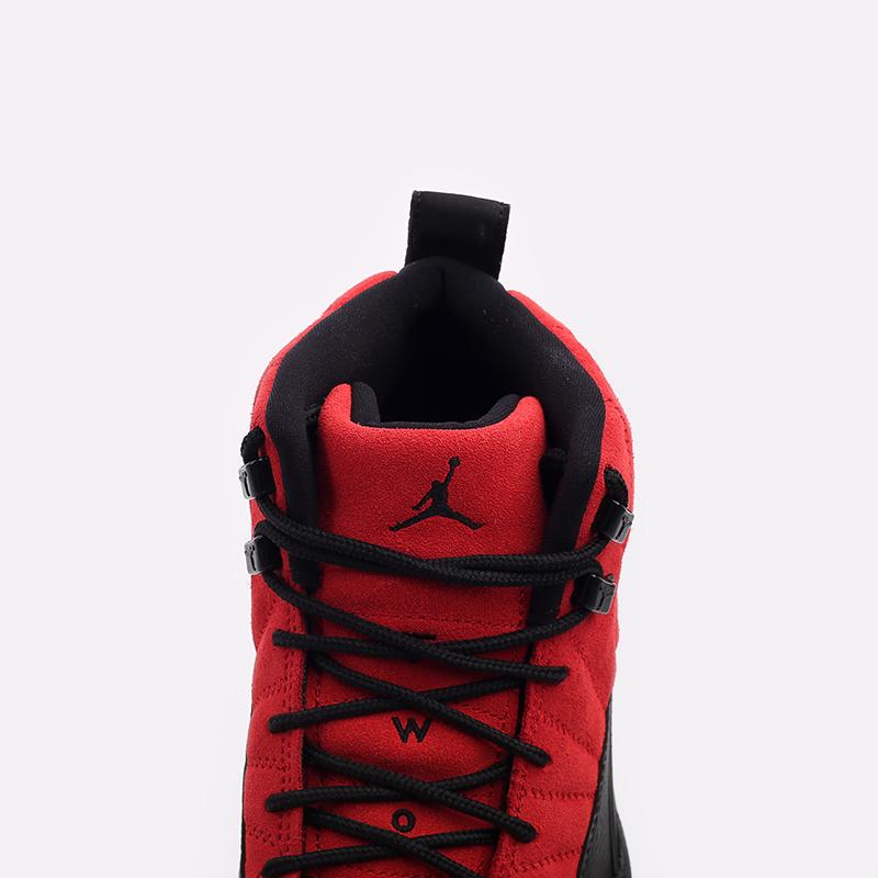 мужские красные, чёрные  кроссовки jordan 12 retro CT8013-602 - цена, описание, фото 8