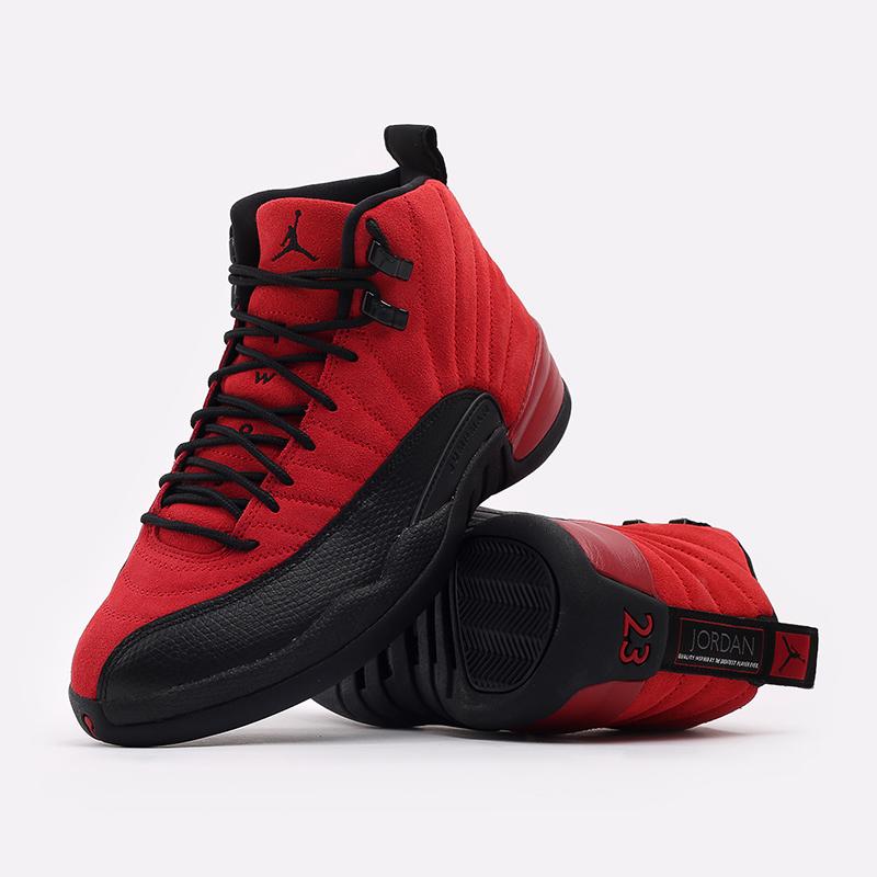мужские красные, чёрные  кроссовки jordan 12 retro CT8013-602 - цена, описание, фото 5