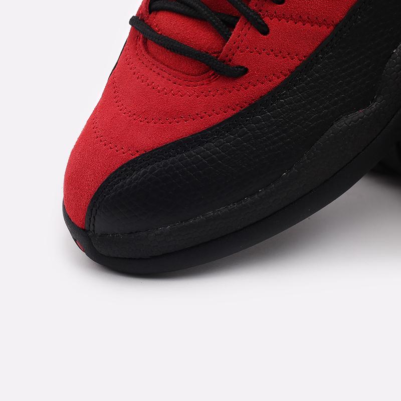 мужские красные, чёрные  кроссовки jordan 12 retro CT8013-602 - цена, описание, фото 6