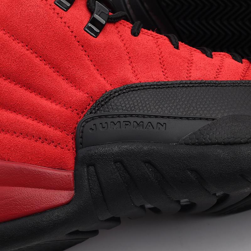 мужские красные, чёрные  кроссовки jordan 12 retro CT8013-602 - цена, описание, фото 10
