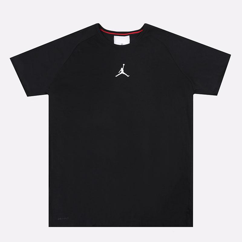 мужскую черную  футболка jordan air short-sleeve training top CU1022-010 - цена, описание, фото 1