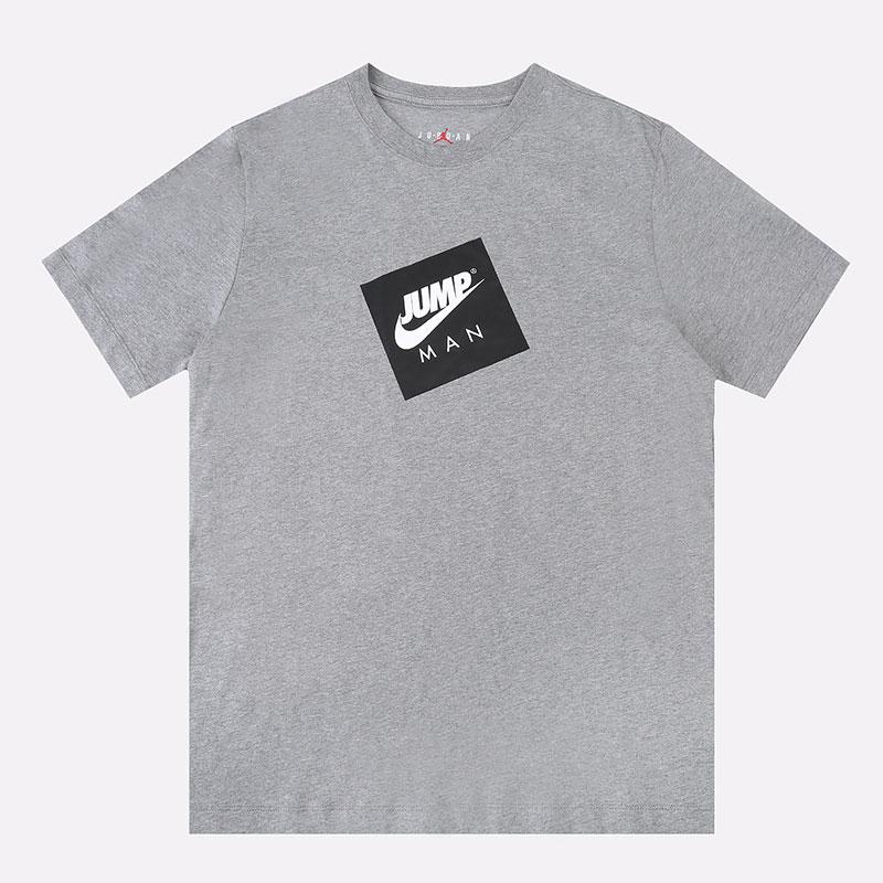 мужскую серую  футболка jordan jumpman box t-shirt DD0963-091 - цена, описание, фото 1