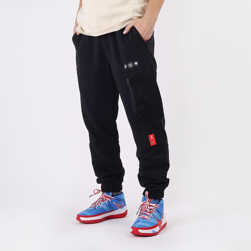 мужские черные  брюки nike kyrie fleece pant CK6663-010 - цена, описание, фото 1