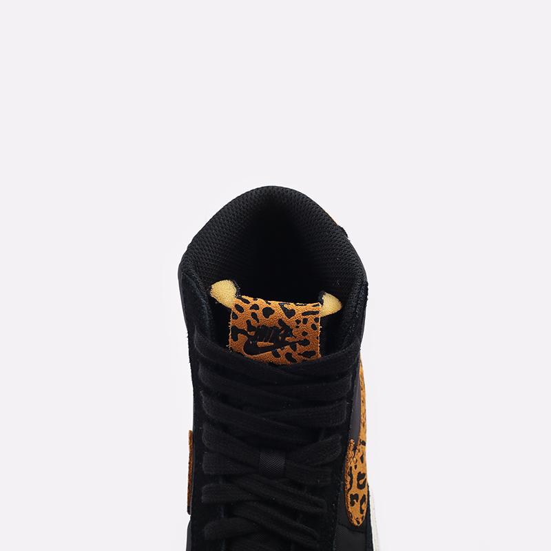 женские чёрные  кроссовки nike wmns blazer mid '77 DC9207-001 - цена, описание, фото 5