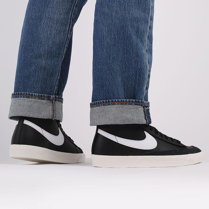 мужские чёрные  кроссовки nike blazer mid '77 vntg BQ6806-002 - цена, описание, фото 9