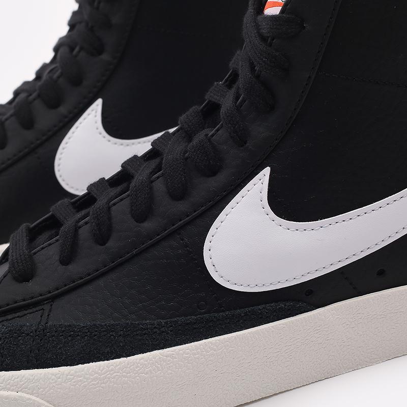 мужские чёрные  кроссовки nike blazer mid '77 vntg BQ6806-002 - цена, описание, фото 7