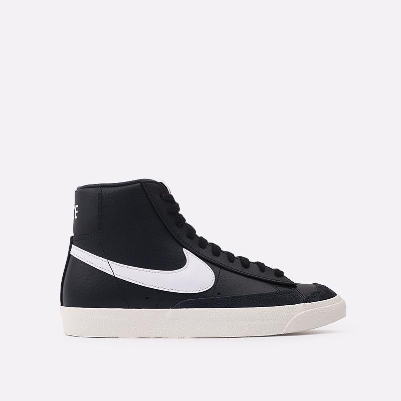 мужские чёрные  кроссовки nike blazer mid '77 vntg BQ6806-002 - цена, описание, фото 1