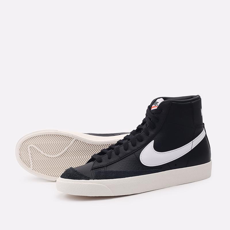 мужские чёрные  кроссовки nike blazer mid '77 vntg BQ6806-002 - цена, описание, фото 4