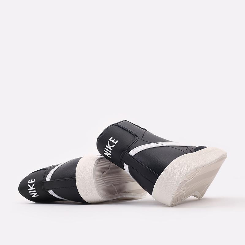 мужские чёрные  кроссовки nike blazer mid '77 vntg BQ6806-002 - цена, описание, фото 3