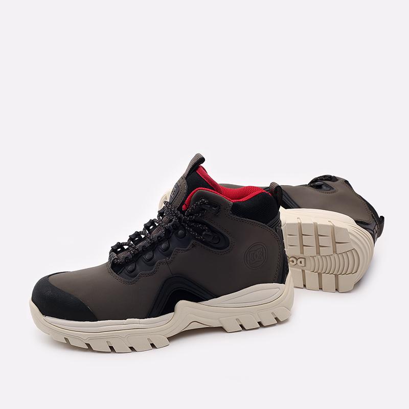 мужские серые  ботинки dc shoes navigator ADYB100008-OB2-OB2 - цена, описание, фото 4