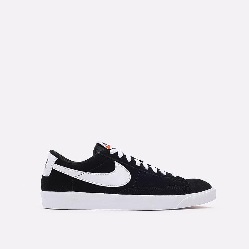 мужские чёрные  кроссовки nike blazer low prm vntg suede 538402-004 - цена, описание, фото 1