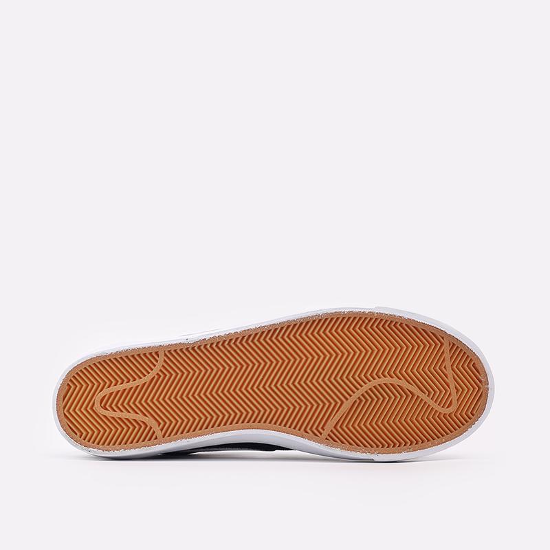 мужские чёрные  кроссовки nike blazer low prm vntg suede 538402-004 - цена, описание, фото 3
