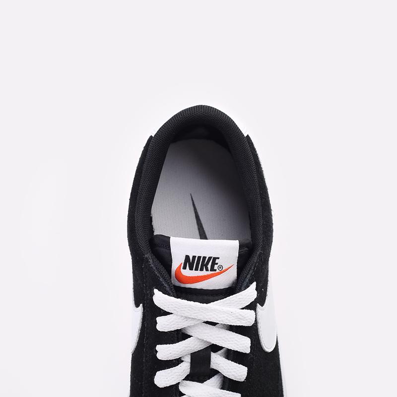 мужские чёрные  кроссовки nike blazer low prm vntg suede 538402-004 - цена, описание, фото 6