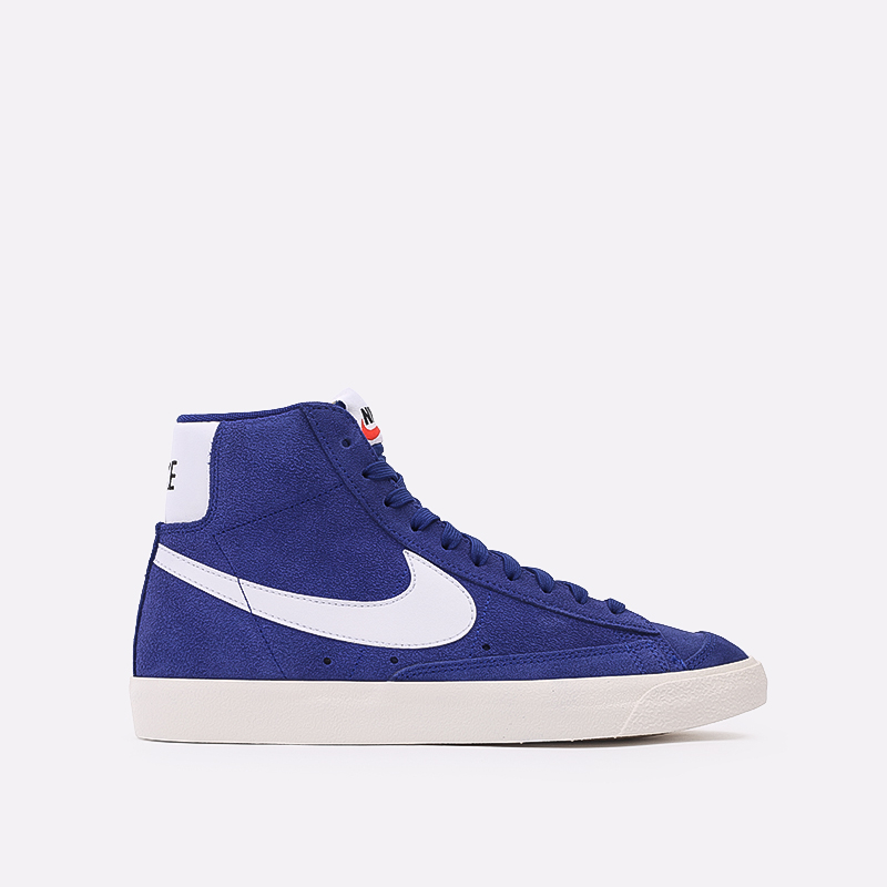 мужские синие  кроссовки nike blazer mid '77 suede CI1172-402 - цена, описание, фото 1