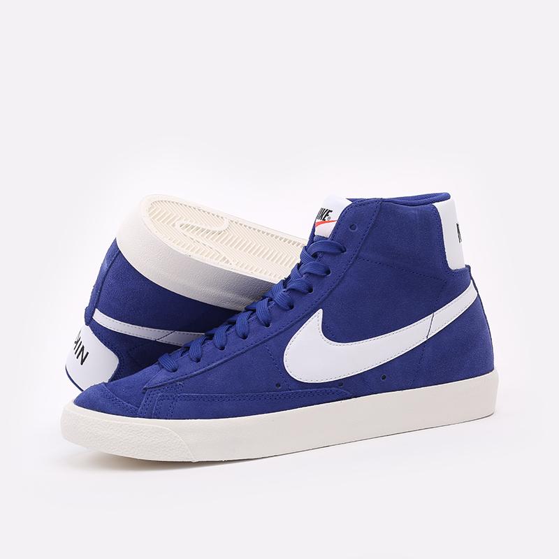 мужские синие  кроссовки nike blazer mid '77 suede CI1172-402 - цена, описание, фото 3