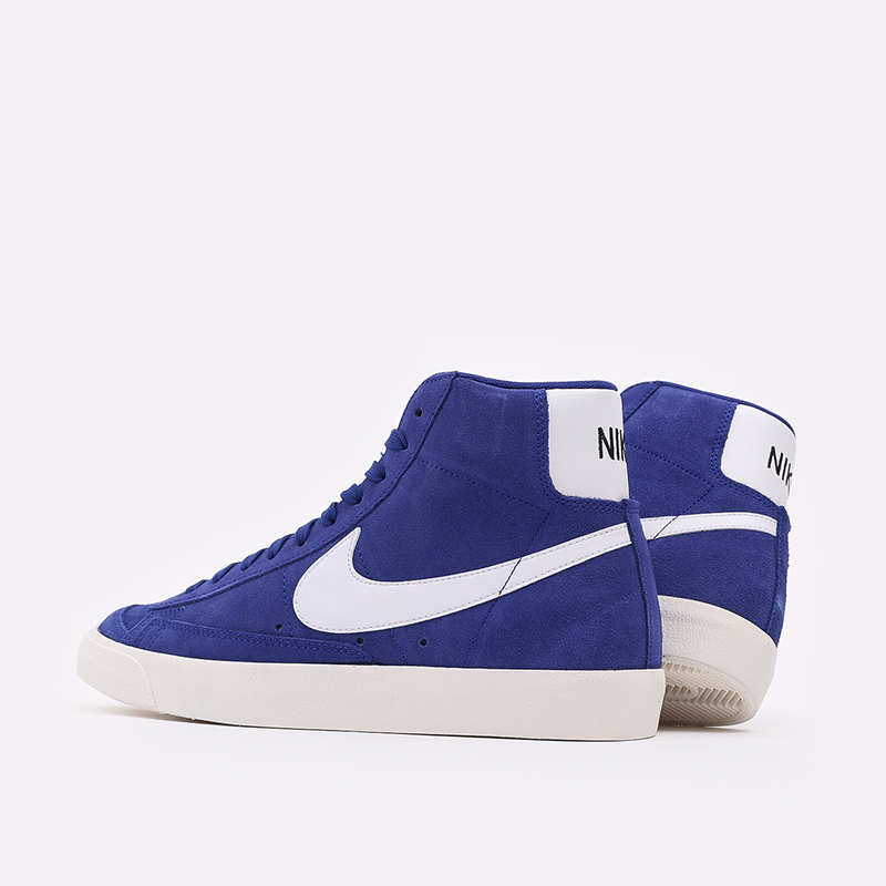мужские синие  кроссовки nike blazer mid '77 suede CI1172-402 - цена, описание, фото 4