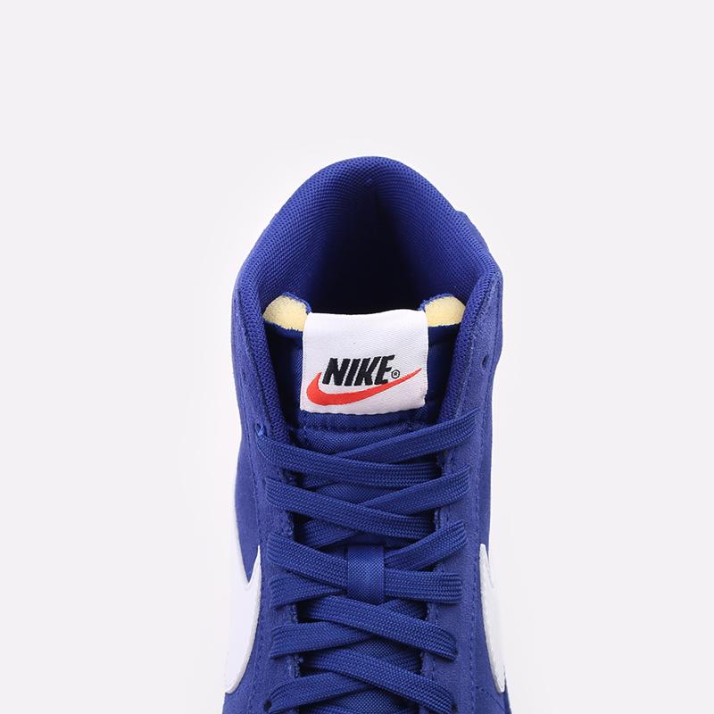 мужские синие  кроссовки nike blazer mid '77 suede CI1172-402 - цена, описание, фото 5