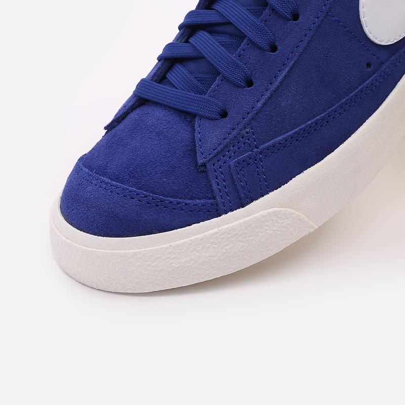 мужские синие  кроссовки nike blazer mid '77 suede CI1172-402 - цена, описание, фото 6