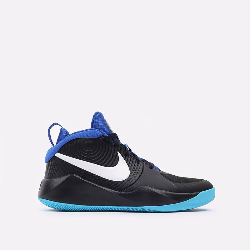 женские чёрные, синие  кроссовки nike team hustle d 9 (gs) AQ4224-012 - цена, описание, фото 1