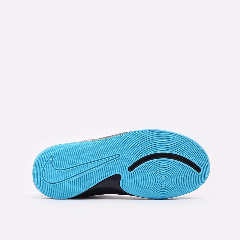 женские чёрные, синие  кроссовки nike team hustle d 9 (gs) AQ4224-012 - цена, описание, фото 3
