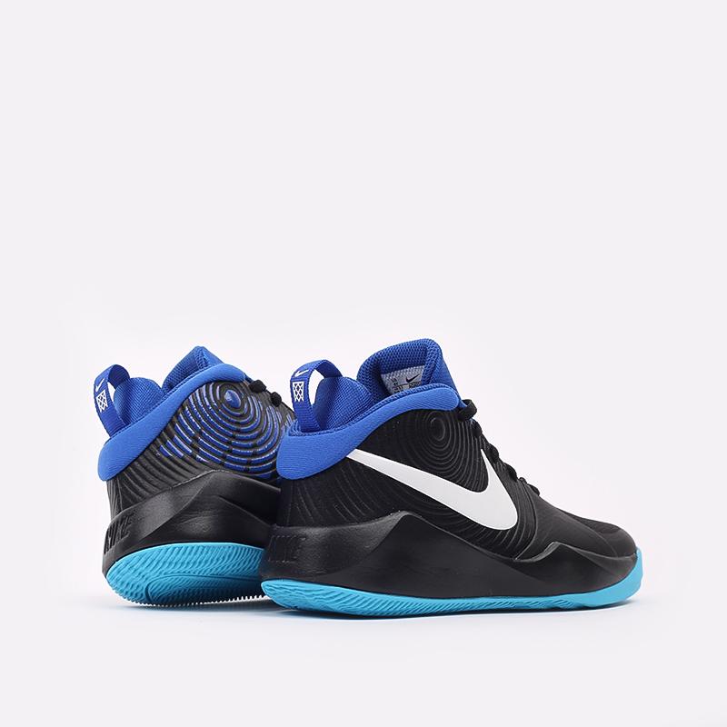 женские чёрные, синие  кроссовки nike team hustle d 9 (gs) AQ4224-012 - цена, описание, фото 4