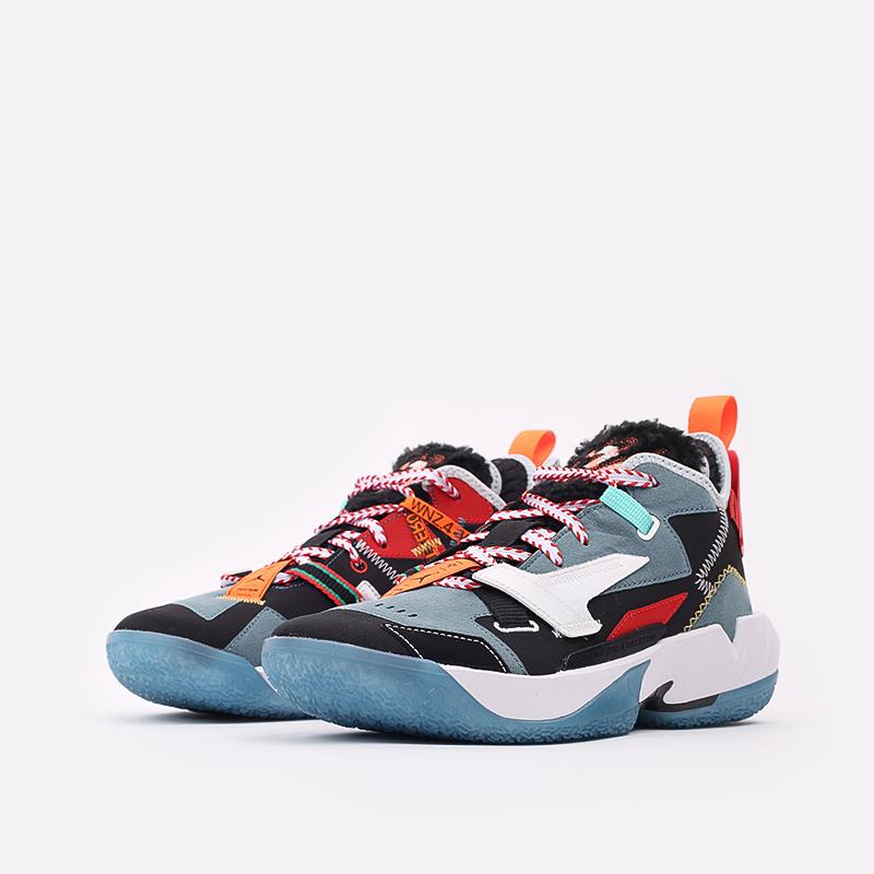 разноцветные  кроссовки jordan why not zero.4 prm DC3665-001 - цена, описание, фото 2