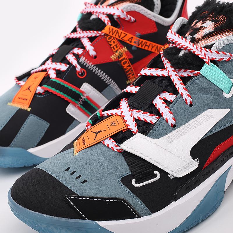 разноцветные  кроссовки jordan why not zero.4 prm DC3665-001 - цена, описание, фото 6