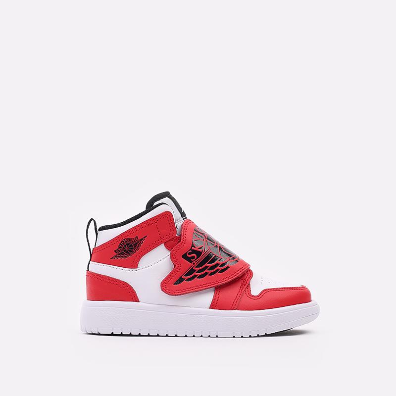 детские красные, белые  кроссовки jordan sky 1 (ps) BQ7197-106 - цена, описание, фото 1