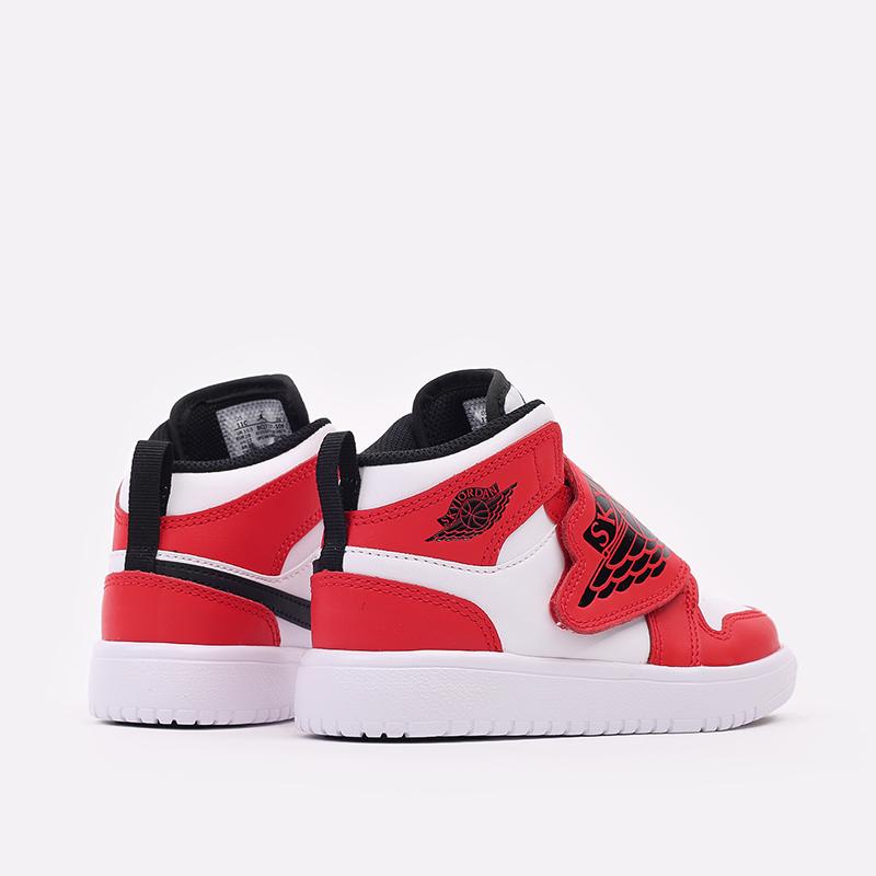 детские красные, белые  кроссовки jordan sky 1 (ps) BQ7197-106 - цена, описание, фото 3