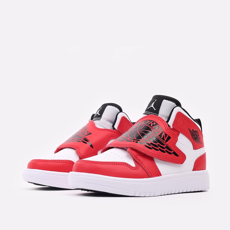 детские красные, белые  кроссовки jordan sky 1 (ps) BQ7197-106 - цена, описание, фото 2