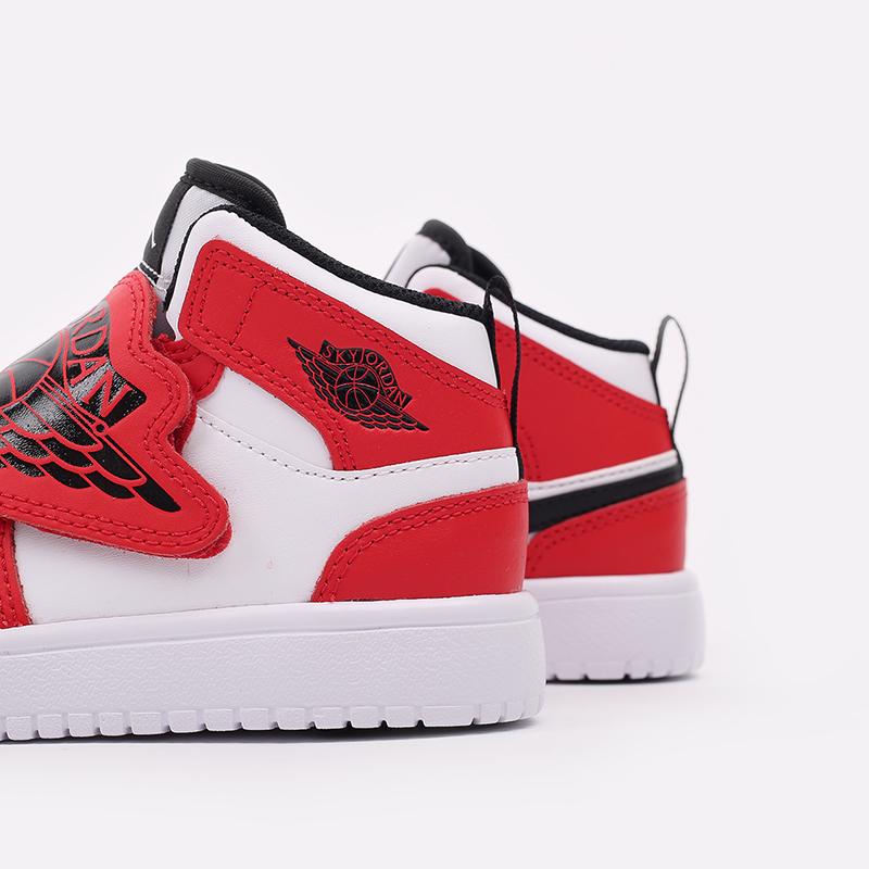 детские красные, белые  кроссовки jordan sky 1 (ps) BQ7197-106 - цена, описание, фото 5