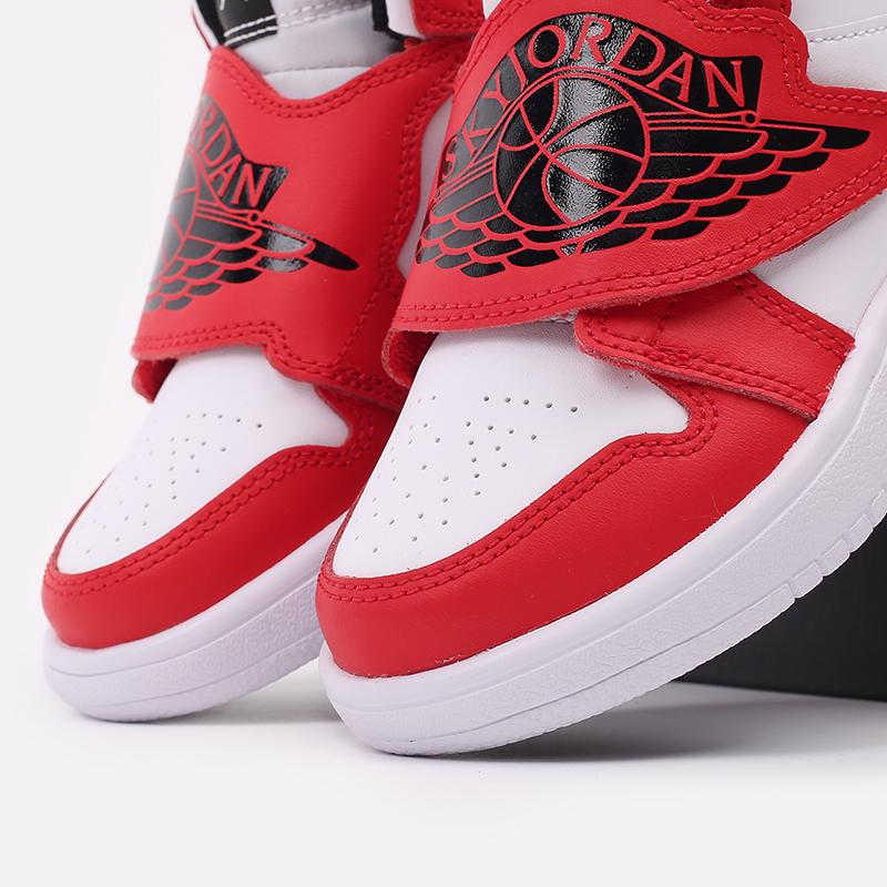 детские красные, белые  кроссовки jordan sky 1 (ps) BQ7197-106 - цена, описание, фото 7
