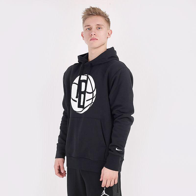 мужскую черную  толстовка nike nba brooklyn nets essential hoodie CN1187-010 - цена, описание, фото 1