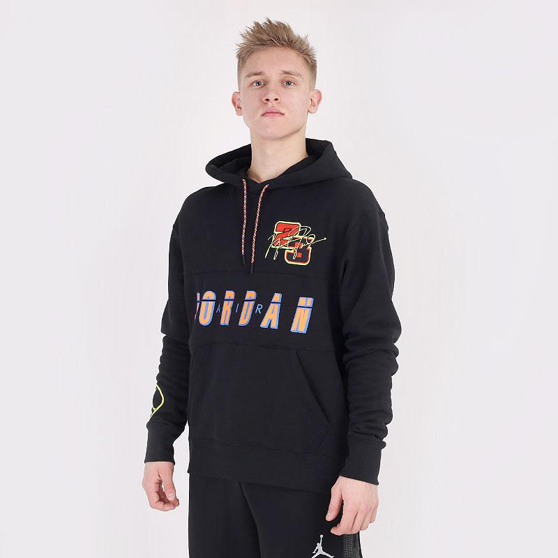 мужскую черную  толстовка jordan sport dna  pullover hoodie CV2743-010 - цена, описание, фото 1
