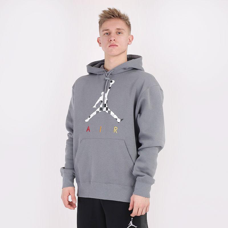 мужскую серую  толстовка jordan aj3 graphic fleece hoodie DD5244-084 - цена, описание, фото 1