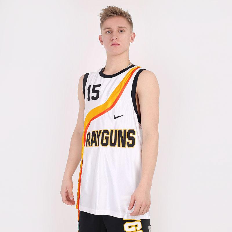 мужскую белую  майку nike rayguns premium basketball jersey CV1970-100 - цена, описание, фото 1